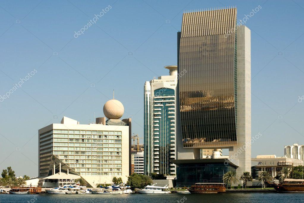 edificios modernos dubai emiratos rabes unidos u foto de stock