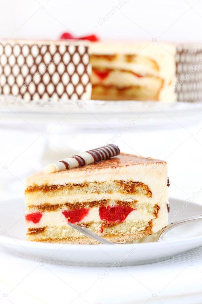 Tiramisu birthday cake Stock Photo brebca 6396810