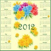 Kalendář 2012 s květinami