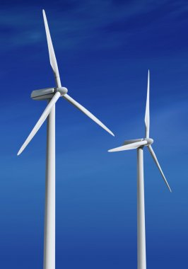 White wind turbines ll
