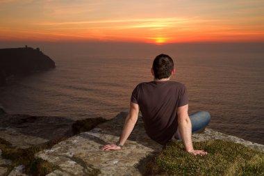 Man at meditation