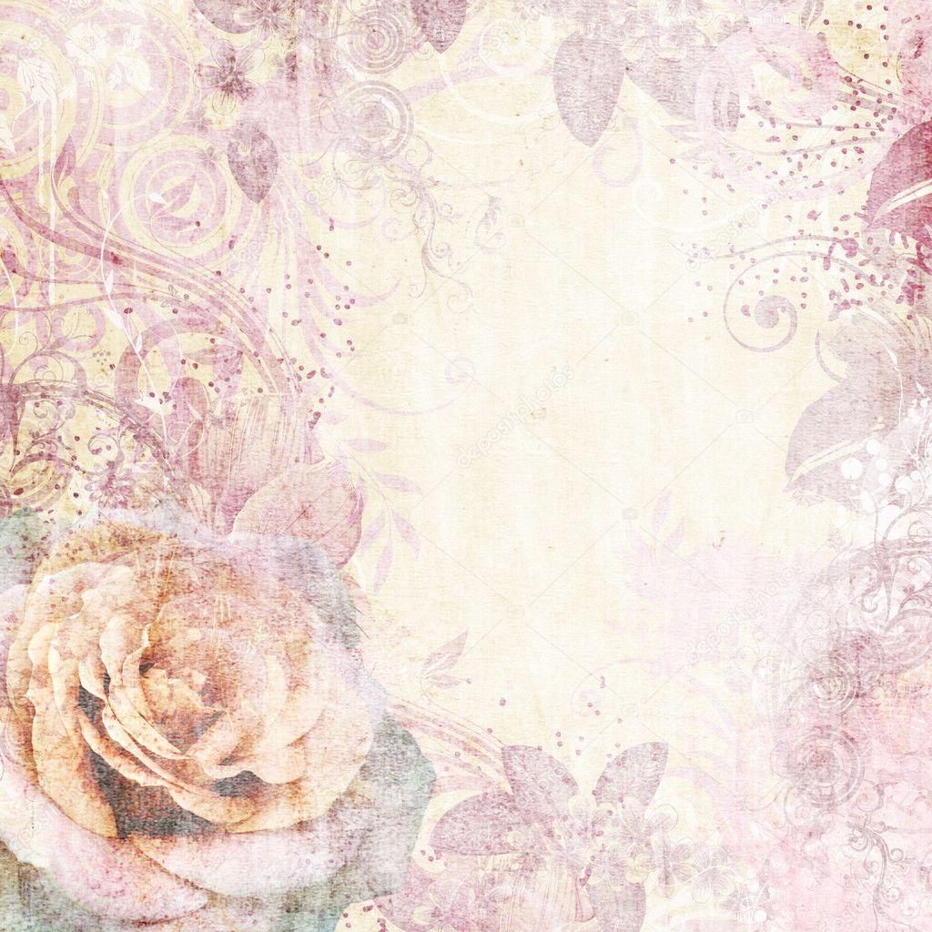 Vintage Floral Background Stock Photo C O April 6209731