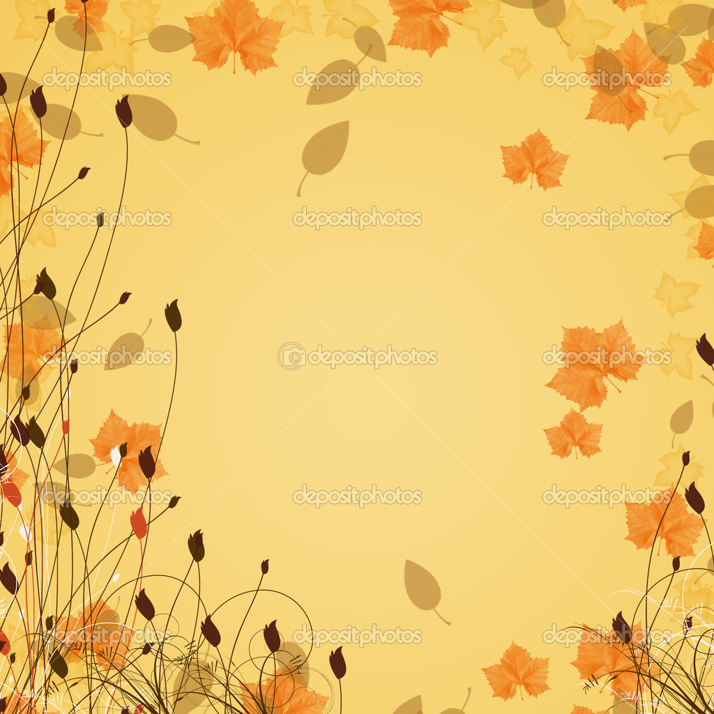 Abstract fall leaf background
