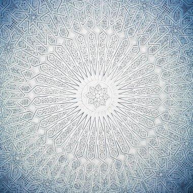 Blue toned arabian ceiling