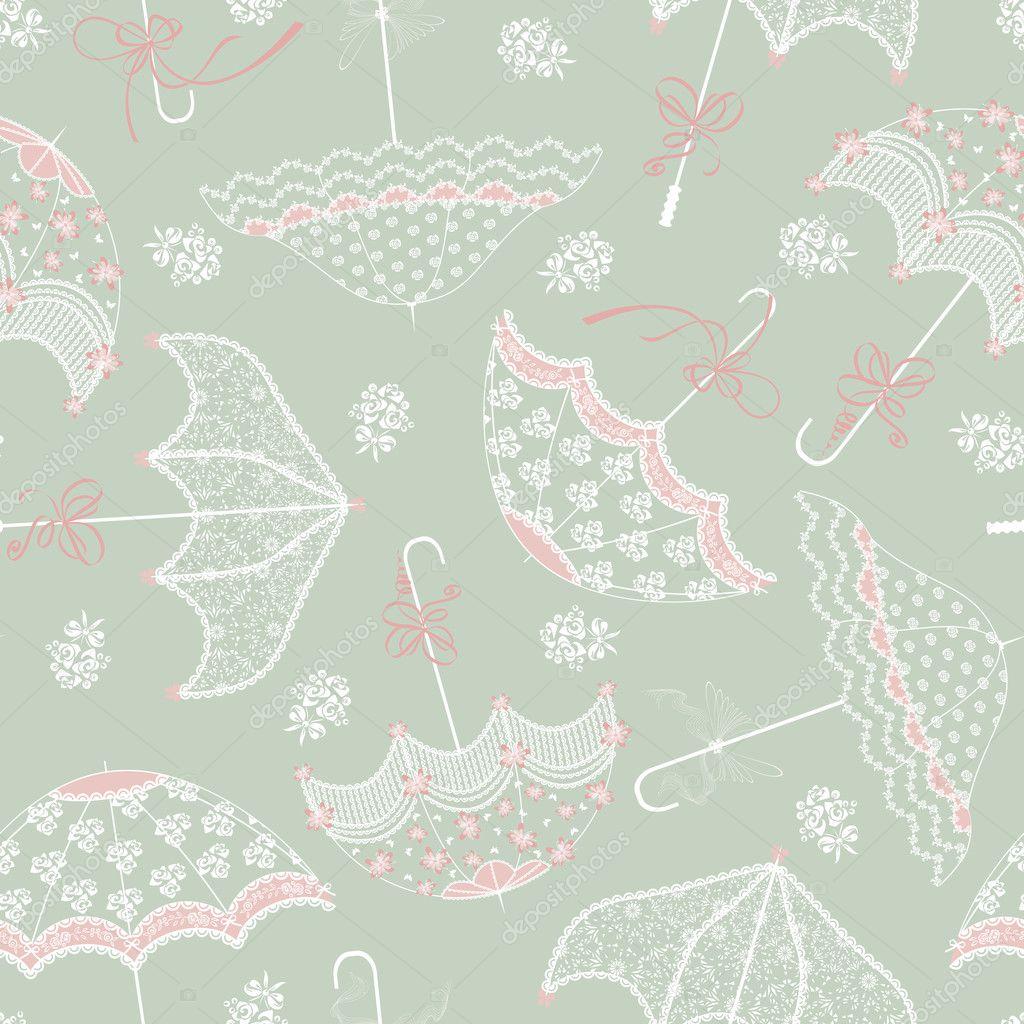 Background with wedding parasols