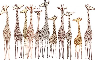 "Картина, постер, плакат, фотообои ""Жирафы"", артикул 5738356"