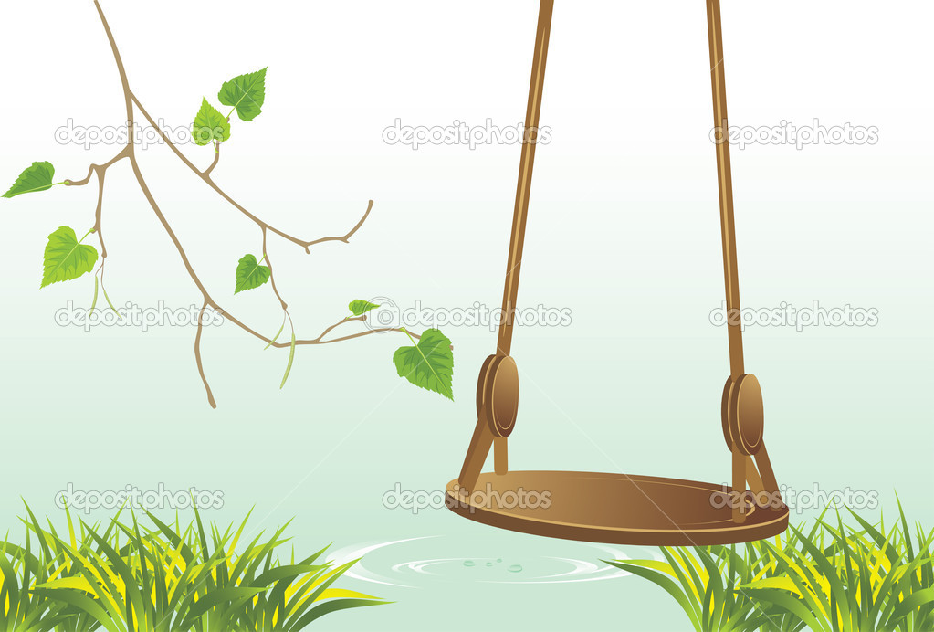 Swing on the riverside