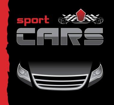 Sport car. Background for design