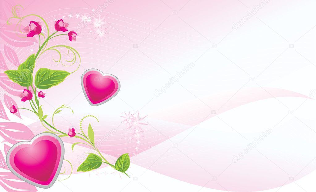 Fondos De Pantalla Colores En Banne: Takje Met Roze Bloemen En Harten Op De Abstracte