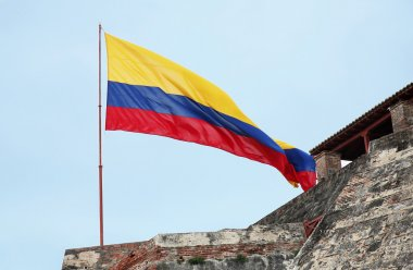 Landscape with Colombia flag