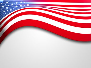 United states of america flag stock vector