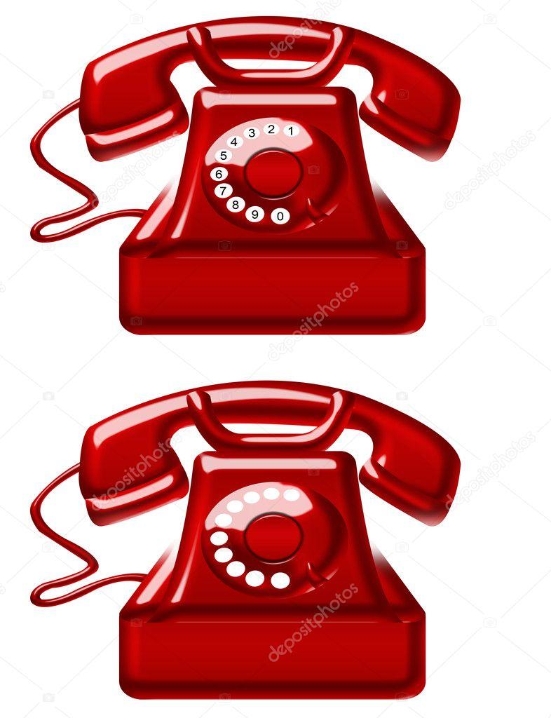 Imágenes Telefonos Rojos Teléfonos Antiguos Rojos Foto De Stock
