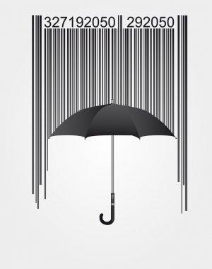 barcode and umbrella