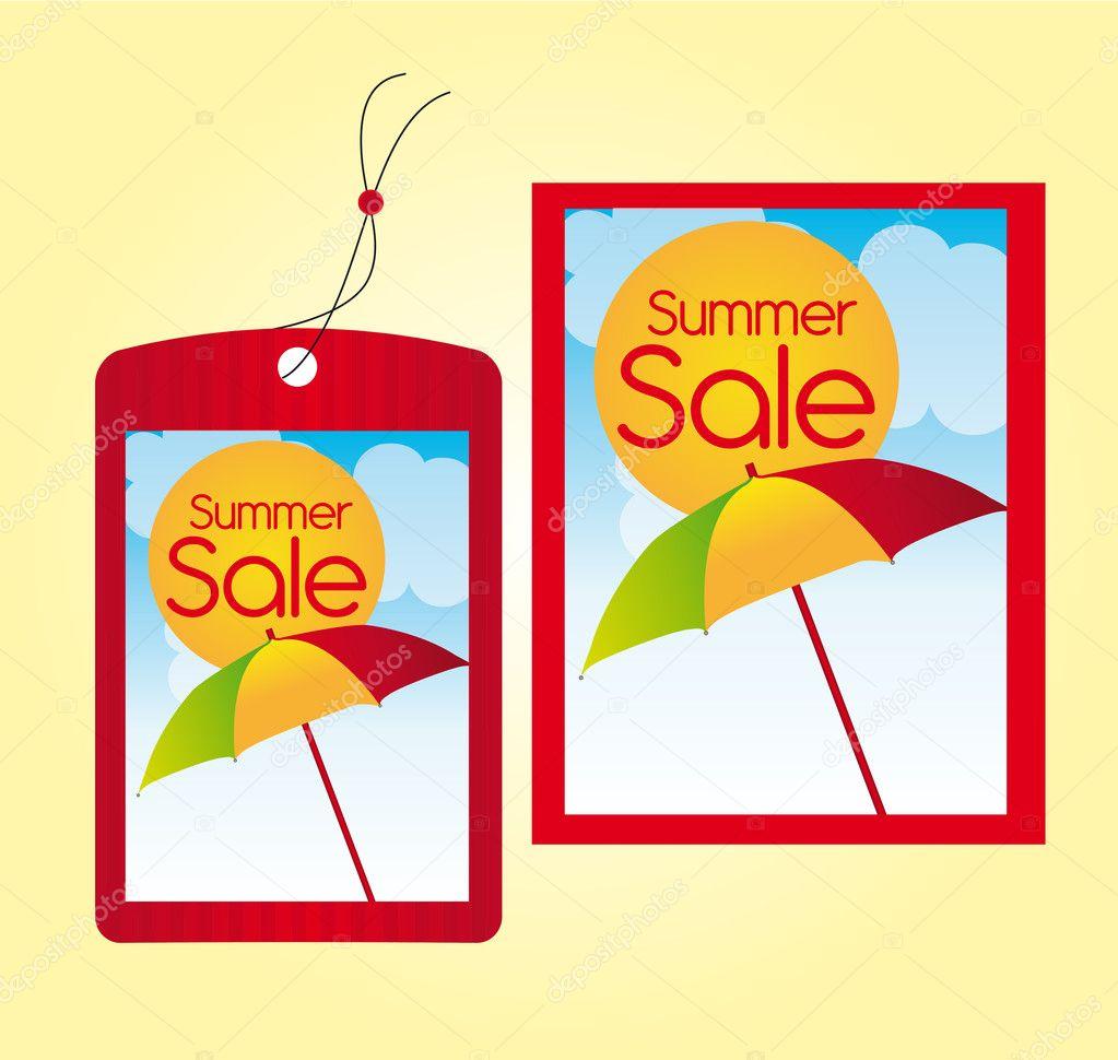 Summer sale labels