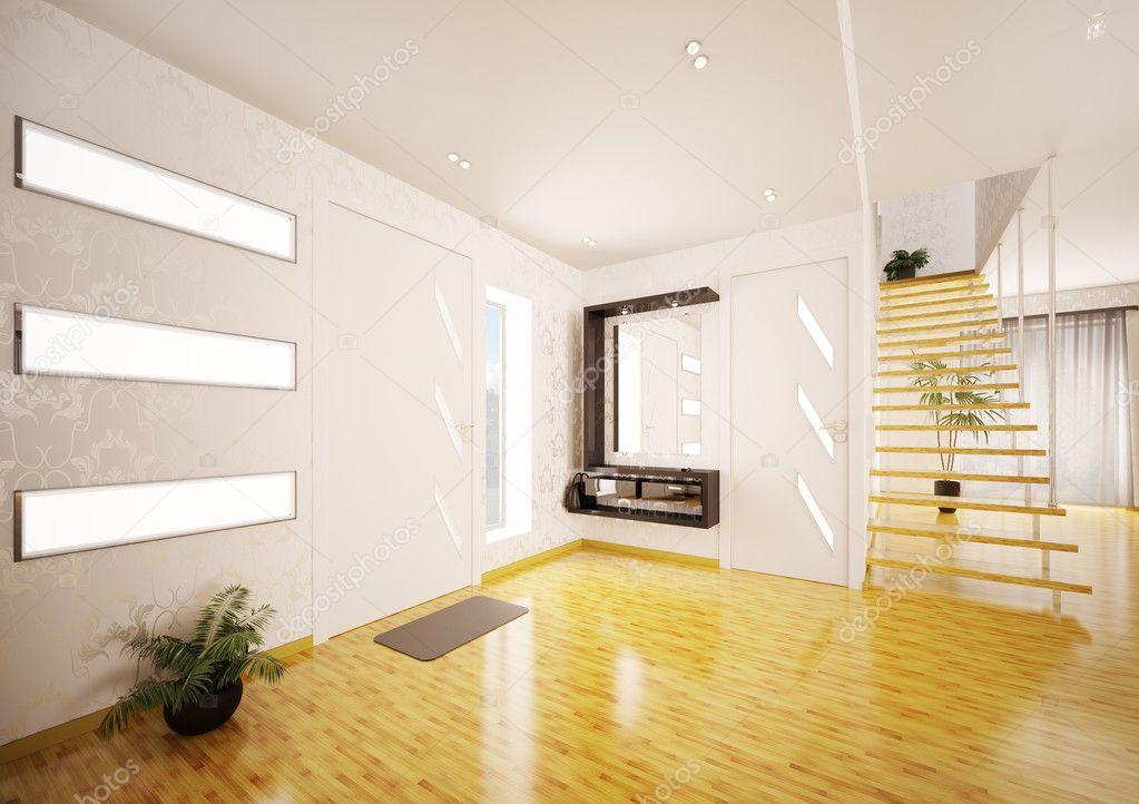 Eingang halle d render modern interior u stockfoto scovad