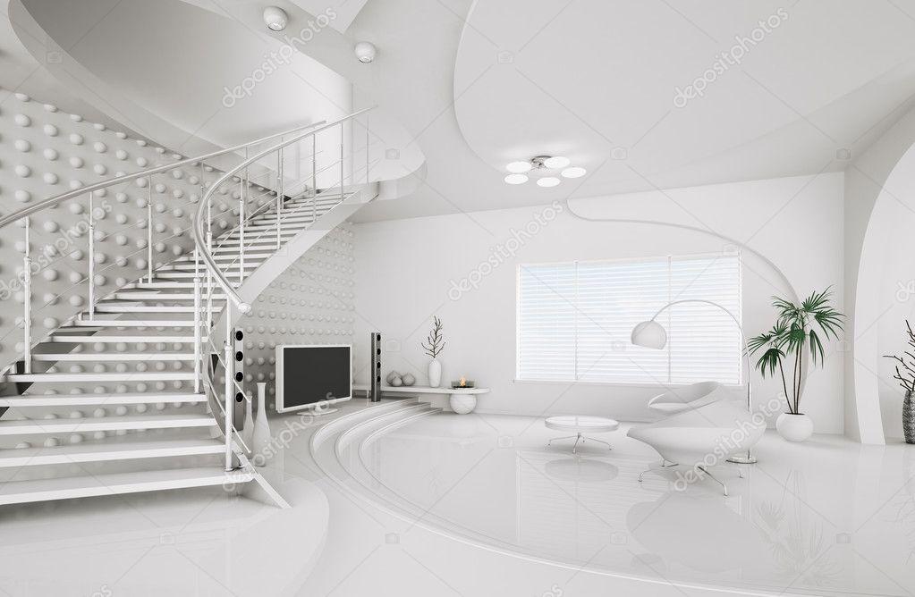 Innenarchitektur skizze wohnzimmer  Innenarchitektur Wohnzimmer 3d render — Stockfoto #5529110