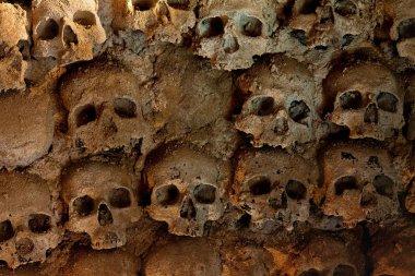 Wall full of skulls