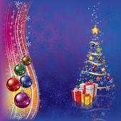 Weihnachtsbaum mit Dekoration und Geschenken