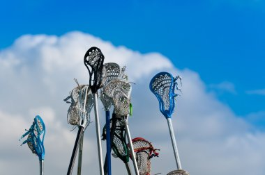 Lacrosse sticks in the Sky
