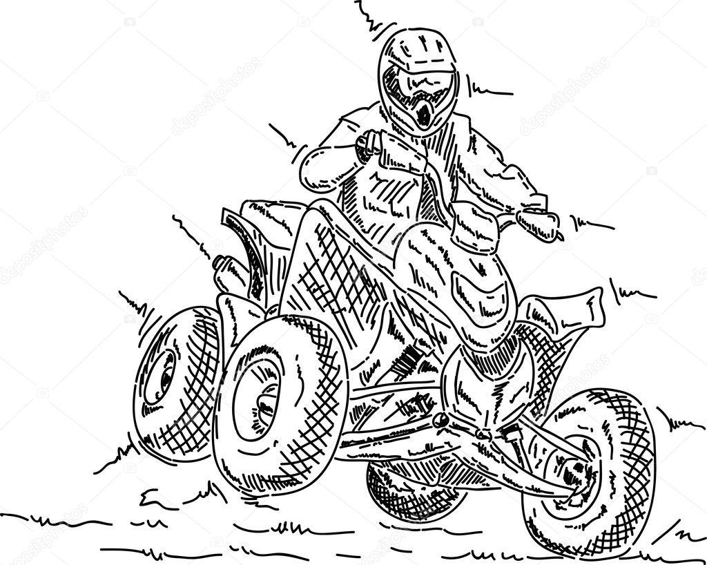 fourwheeler — stock vector © pavelmidi #5807390