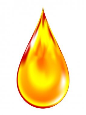 Vector illustration of a golden drop of oil.