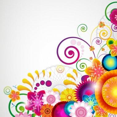 Gift festive floral design background. stock vector