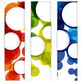 abstraktní Vertikální banner s formami prázdné rámečky pro vaše www