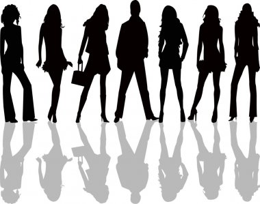 Fashion silhouettes - vector