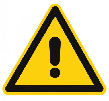 Blank Danger And Hazard Triangle Warning Sign Isolated Macro