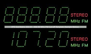 VFD Dot Matrix FM Radio Digital Display Macro In Green