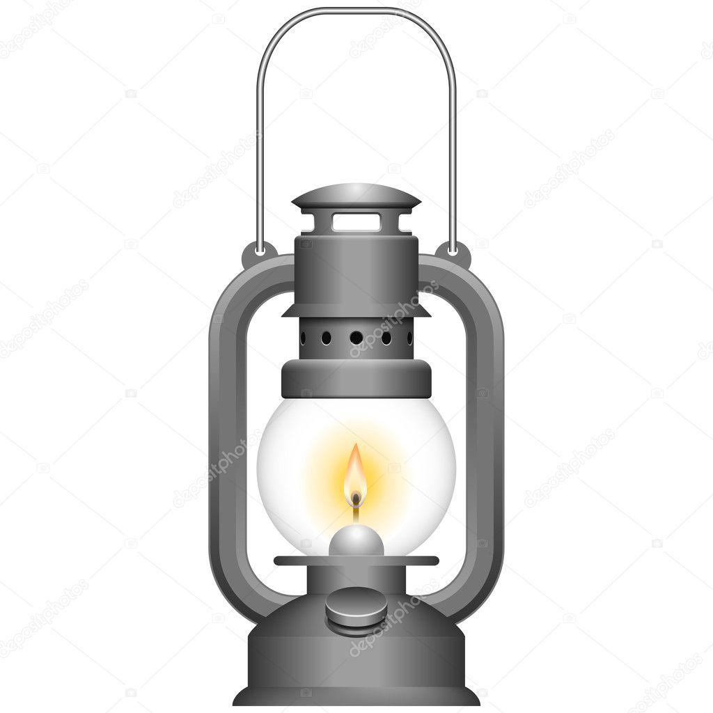 Old Kerosene Lamp — Stock Vector © tshooter #5932873 for Kerosene Lamp Clipart  34eri