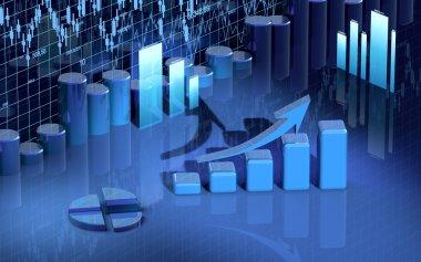 Business finance chart, diagramm, bar, graphic
