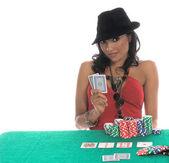 Fotografie sexy Poker-Spieler