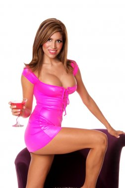 Sexy Martini Party Girl