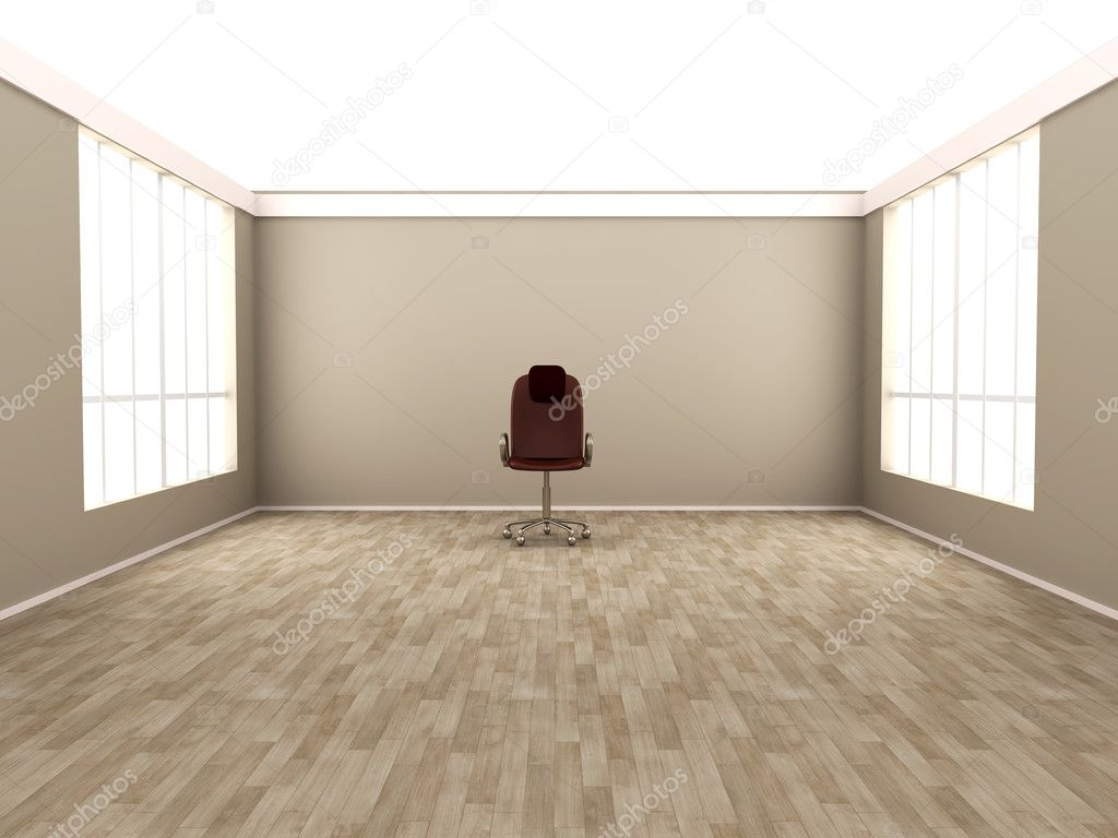 Empty chair in room - Office Chair In A Empty Room Photo By Spectral