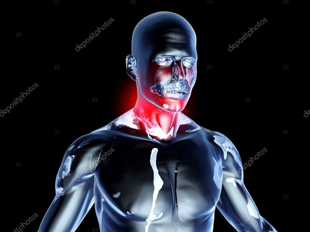 dolor de garganta - anatomía — Foto de stock © Spectral #6383815
