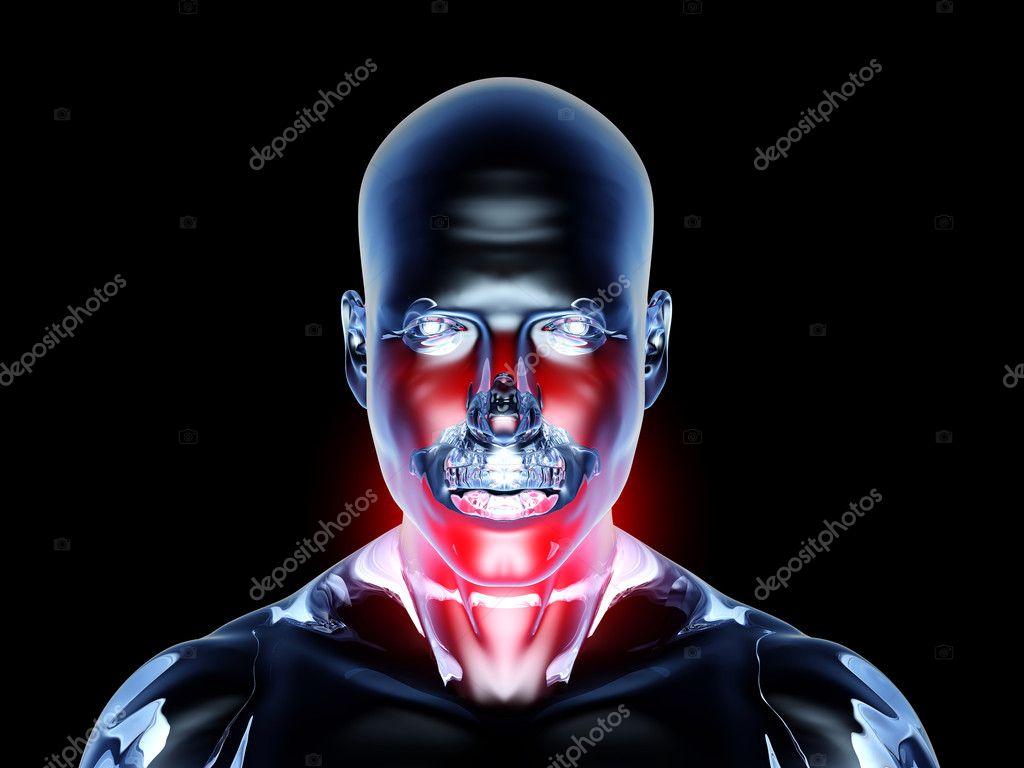 Sore Throat - Anatomy — Stock Photo © Spectral #6383854