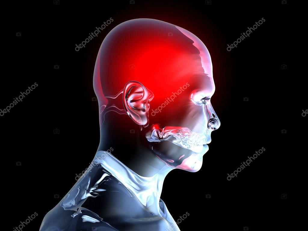 dolor de cabeza - anatomía — Foto de stock © Spectral #6717259