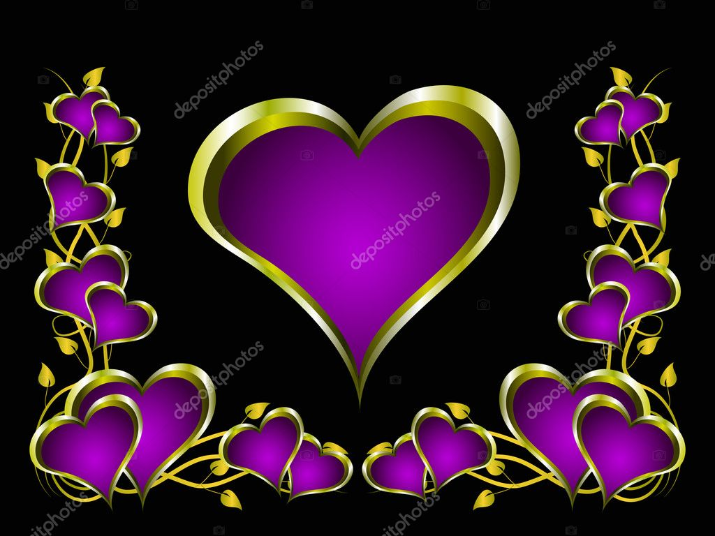 a purple hearts valentines day background u2014 stock vector mhprice