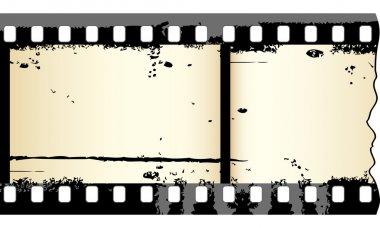 Old grungy film strip