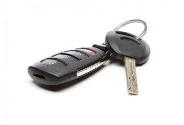 Modern Car Key and Remote on White