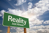 Fotografia cartello verde realtà