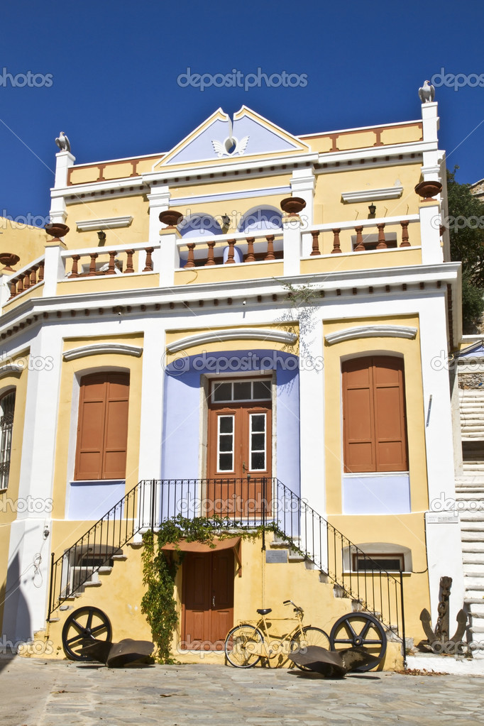 Traditional greek houses  Stock Photo #6177423
