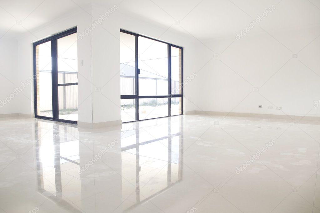 White interior, reflection