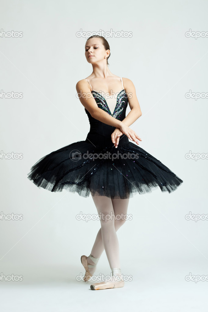 Professional female ballet dancer