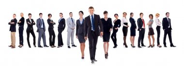 Business leaders walking