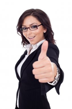 Happy successful business woman