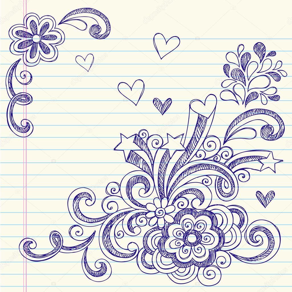 doodles incompleto volver al cuaderno de la escuela — Archivo ...