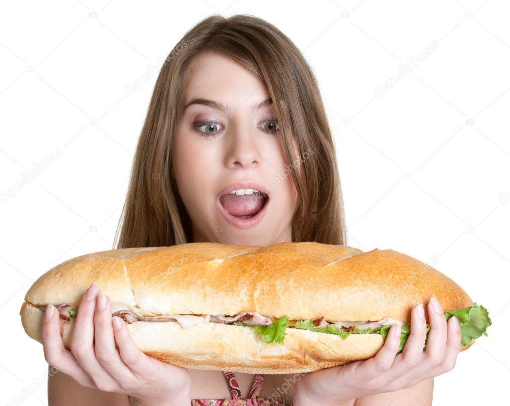 Girl Eating Food