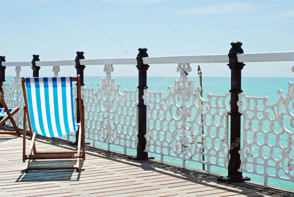Beach chair on the pier